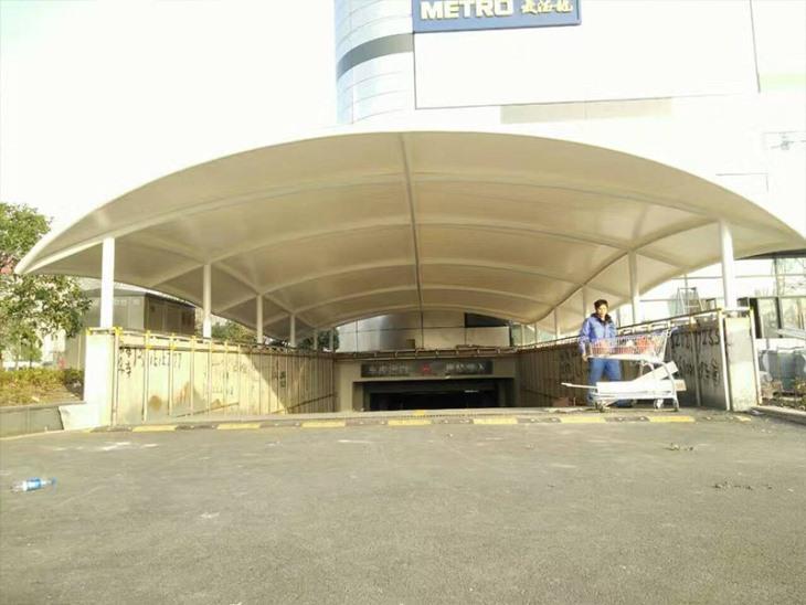膜结构地下车库出入口棚