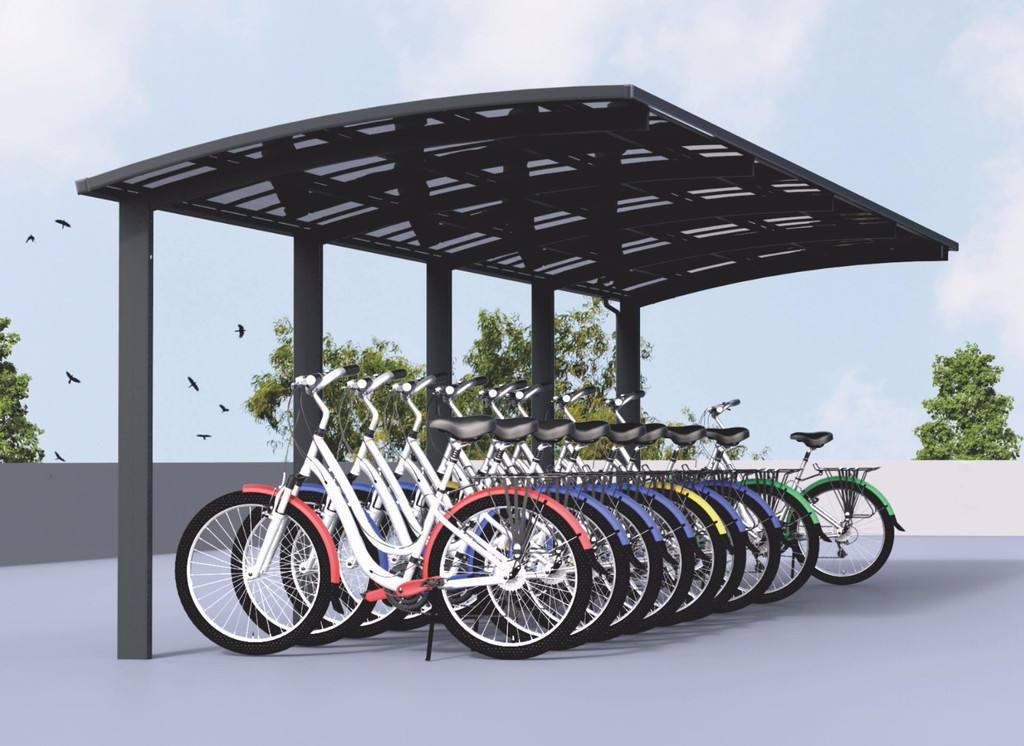 膜结构车棚和钢结构自行车棚有区别分析